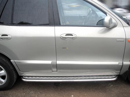 Hyundai Santa Fe Classic 2000-2012г.в.-Пороги лист d-43